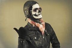 Aviator Skull Royalty Free Stock Image