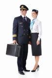 Aviator and stewardess Stock Photo