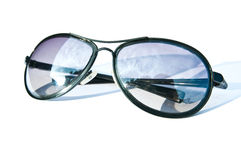 Aviator sunglasses. Isolated on white background Royalty Free Stock Photos