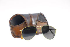 Aviator sunglasses isolated. Royalty Free Stock Photography