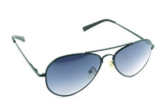 Aviator sunglasses isolated on white background Stock Photos