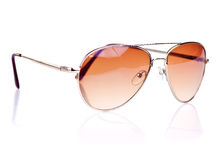Aviator sunglasses on a white background Royalty Free Stock Image