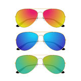 Aviator sunglasses  on white background Royalty Free Stock Images