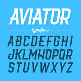 Aviator typeface. Modern style uppercase font royalty free illustration