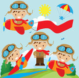 Aviator vector illustration. Cute little aviator vector illustration vector illustration