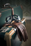 Aviator vintage luggage Royalty Free Stock Image