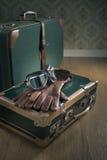Aviator vintage luggage Stock Photography