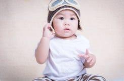 Aviatore pilota neonato del neonato immagini stock libere da diritti