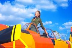 Aviatrice de jeune femme Photo libre de droits
