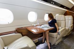 Aviazione interna di lusso di affari degli aerei immagine stock