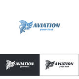 Aviazione Logo Design Five Fotografie Stock
