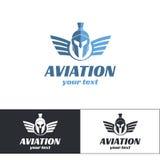 Aviazione Logo Design Three Immagine Stock