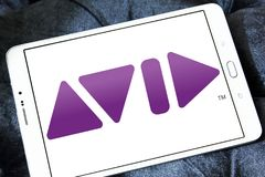 Avid Technology-Firmenlogo Stockfotos