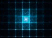 Avidez abstrata do azul do fractal ilustração royalty free