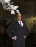 Avidité d'affaires, bénéfice, réchauffement global, pollution photo libre de droits