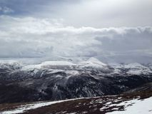 Aviemore. Mountaineering Trip in Scottish Highlands Royalty Free Stock Image