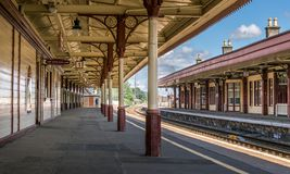 Free Aviemore Train Station Platform On A Summers Day Stock Image - 157906891