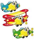 Aviões dos desenhos animados Fotografia de Stock Royalty Free