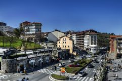 AView над городом Getaria Стоковое Изображение