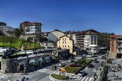 AView over de Getaria stad Stock Afbeelding