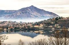 Avigliana lake turin piedmont italy val susa Stock Images