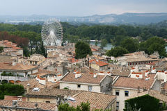 Avignon. View from the top of the palais des papes stock photography