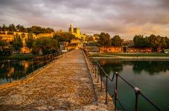 Avignon bij zonsondergang, Frankrijk royalty-vrije stock fotografie