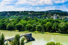 Avignon Bridge in France Stock Photo