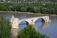 Avignon bridge, France Stock Images