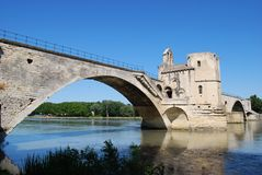 Avignon bridge, France Royalty Free Stock Images