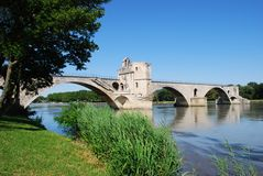 Avignon bridge, France Stock Photos