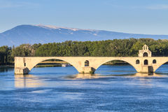 Avignon Bridge, Pont Saint-Bénezet Stock Photo