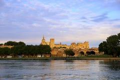 Avignon castle stock photography