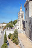 Avignon Cathedral next to the Papal palace in Avignon. Avignon, France, September 9, 2016: Avignon Cathedral next to the Papal palace in Avignon royalty free stock images