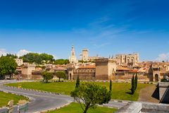 Avignon city walls Stock Images
