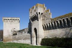 Avignon city walls Royalty Free Stock Photos