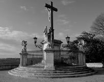 Avignon Cross. Avignon garden cross in Papal Palace Royalty Free Stock Images