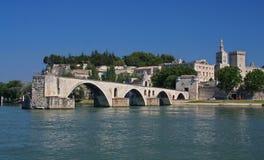 avignon D berömd france pont Royaltyfria Bilder