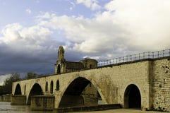 avignon D france pont Royaltyfria Foton