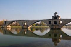avignon D pont Arkivfoton
