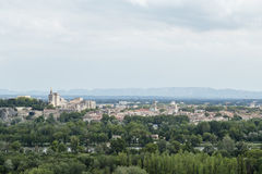 Avignon distant Cityscape as seen from across the Rhone Stock Photography