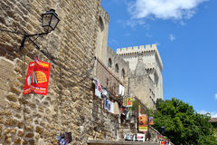 Avignon durante o festival do teatro Fotografia de Stock