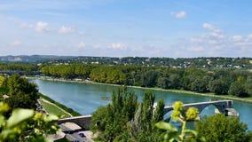 Avignon, een stad in het zuiden van Frankrijk stock footage