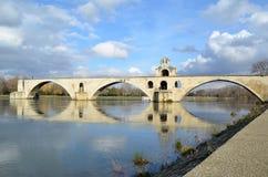 Avignon famous bridge. View of the famous bridge in avignon france. build in 1177-1185, famous song. Named avignon bridge or saint benezet bridge royalty free stock photos