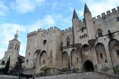 Avignon famous pope palace stock image