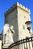 Avignon, France.  Angel Statue at the famous Popes Palace square in Avignon,  France Stock Photo