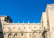 Inerior architecture of Papal palace. AVIGNON, FRANCE - APRIL 12 : Interior architecture of Papal palace Palais des Papes in Avignon, France, on April 12, 2017 royalty free stock image