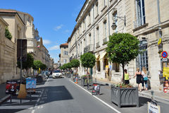Avignon. FRANCE - JUL 12, 2014: Street scene in historical centre of .  is a famous and very popular among tourists city in Provence in south of France Royalty Free Stock Image
