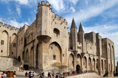 AVIGNON, FRANCE - 1 JULY 2014: Pope palace in Avignon which beca Stock Photo
