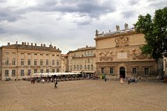 AVIGNON, FRANCE - JULY 1, 2014: Square in front of the Palais de Stock Photography